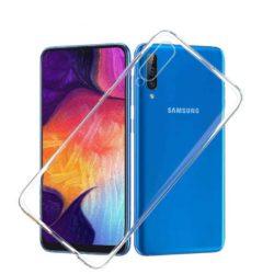 Силиконовый чехол для Samsung Galaxy A50 прозрачный