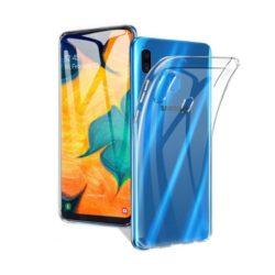 Силиконовый чехол для Samsung A30 прозрачный