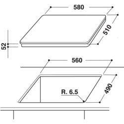 Встраиваемая индукционная панель Hotpoint-Ariston KIS 640 C