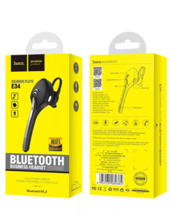 Гарнитура bluetooth HOCO E34 Black