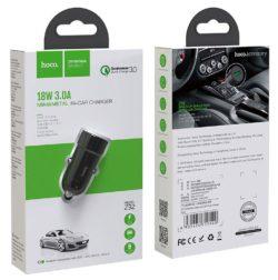 Блок питания автомобильный 2 USB HOCO Z32 Speed Up 3000mA металл QC3.0 черный