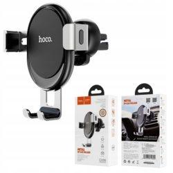 Держатель автомобильный HOCO CA56 пластик, силикон, алюминий, воздуховод, шарнир, регулируемый, серый
