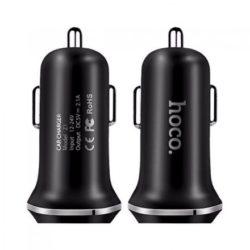 Блок питания автомобильный 2 USB HOCO Z1 2100mA черный